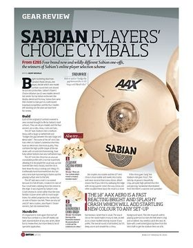 SABIAN PLAYERS' CHOICE CYMBALS