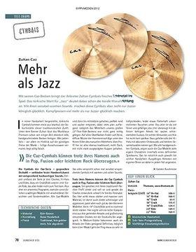 Test Cymbals: Zultan Caz