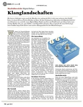 gear Effektspecial - Marktübersicht: Digital Delays
