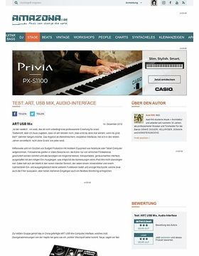 Test: ART, USB Mix, Audio-Interface