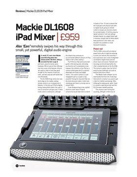 Mackie DL1608 iPad Mixer