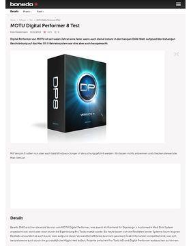 MOTU Digital Performer 8 Test