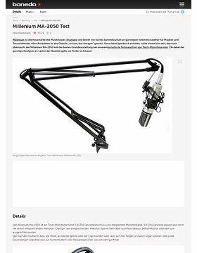 Millenium MA-2050 Test