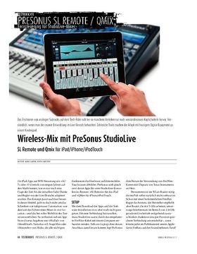 PreSonus SL Remote und Qmix −StudioLive-Steuerung über iPad/iPhone/iPodTouch