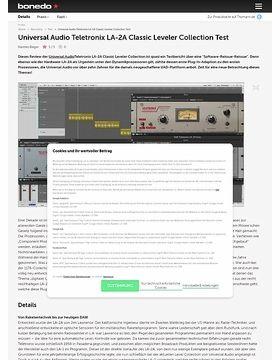 Universal Audio Teletronix LA-2A Classic Leveler Collection Test