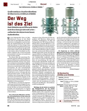 Test: Großmembran-Studiomikrofone SE Electronics Z3300a & Z5600A