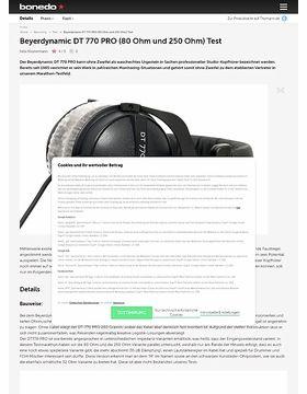 Beyerdynamic DT-770 Pro (80 Ohm und 250 Ohm) Test