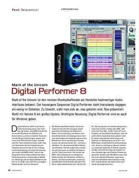 Mark of the Unicorn Digital Performer 8