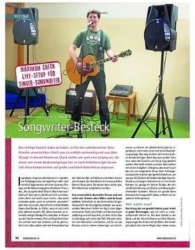 Maximum-Check Live-Setup für Singer-Songwriter