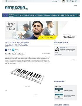 Test: CME X-Key, USB/MIDI-Controllerkeyboard