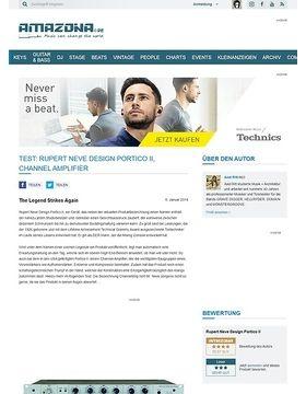 Test: Rupert Neve Design Portico II, Channel Amplifier
