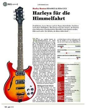 gear e-gitarre: Harley Benton RB-600CS & RB-612CS