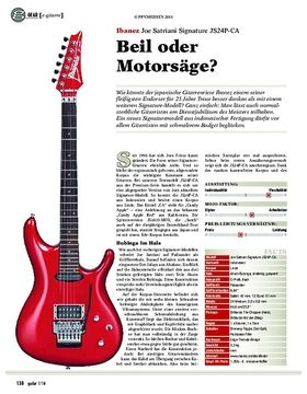 gear e-gitarre: Ibanez Joe Satriani Signature JS24P-CA