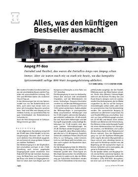 Ampeg PF-800, Bass-Head