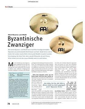 Test: Meinl Byzance und Mb20