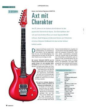 Test Gitarre: Ibanez Joe Satriani Signature JS24P-CA