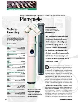 Planspiele – Mobiles Recording-Komplettsystem für 1.000 Euro