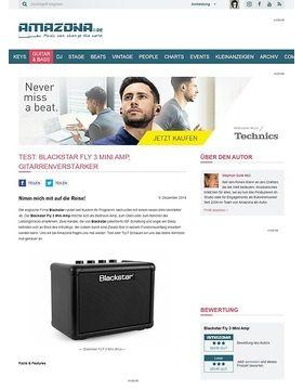 Test: Blackstar FLY 3 Mini Amp, Gitarrenverstärker