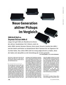 Aktive Pickups im Vergleich: EMG 81X/85X vs. Seymour Duncan AHB1-S