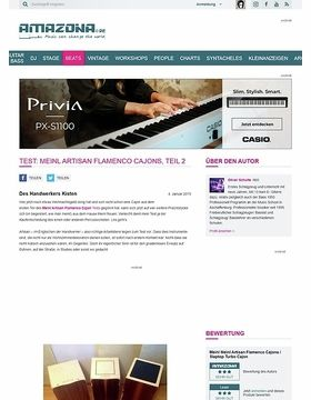 Test: Meinl Artisan Flamenco Cajons, Teil 2