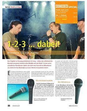 Special: 1-2-3 ... dabei! – Mikrofone für jede Stimme