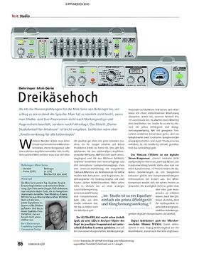 Test: Behringer Mini-Serie – Dreikäsehoch