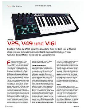 Alesis V25, V49 und VI61