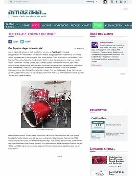 Test: Pearl Export Drumset
