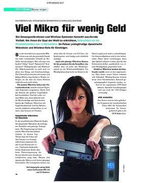 Kaufberatung: Dynamische Mikrofone & Wireless-Systeme - Viel Mikro für wenig Geld