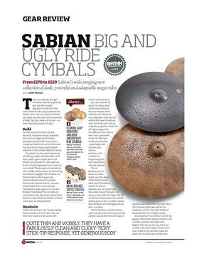Sabian Big And Ugly Ride Cymbals