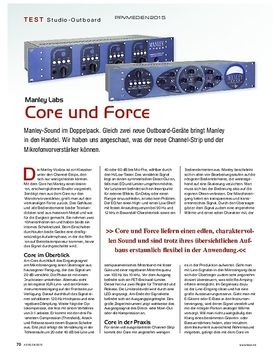 Manley Labs Core and Force