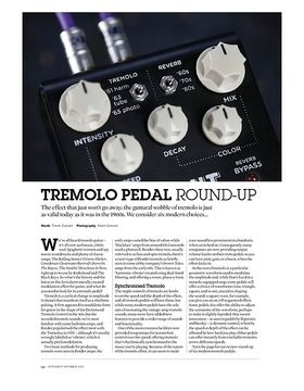 Tremolo Pedal Round Up