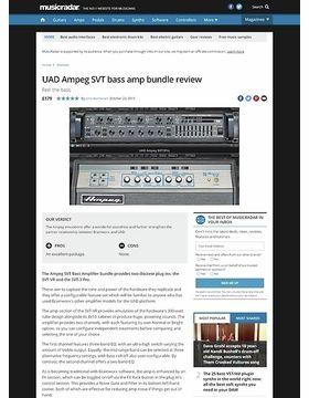 UAD Ampeg SVT bass amp bundle