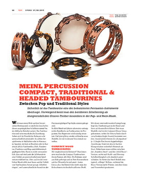 Meinl Percussion Compact, Traditional & Headed Tambourines
