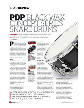 PDP Black Wax Concept Series Snare Drums