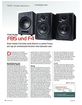 Fluid Audio F8S und F4