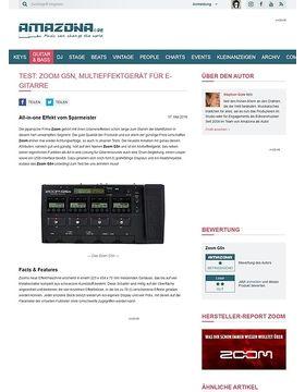 Test: Zoom G5n, Multieffektgerät für E-Gitarre