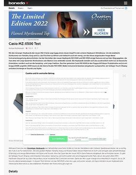 Casio MZ-X500 Test