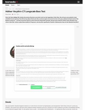 Höfner Verythin CT Longscale Bass