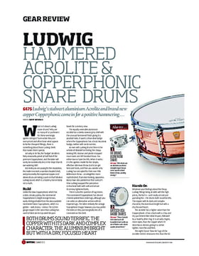 Ludwig Hammered Acrolite & Copperphonic Snare Drums
