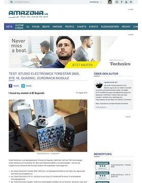 Test: Studio Electronics Tonestar 2600, STE.16, Quadnic, Eurorack Module
