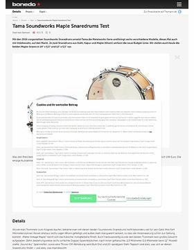 Tama Soundworks Maple Snaredrums