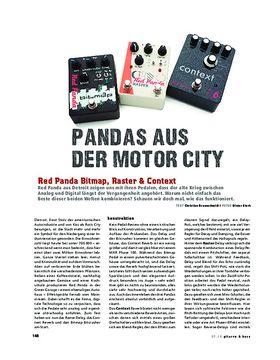 Red Panda Bitmap, Raster & Context, FX-Pedale
