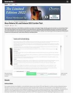 Boss Katana 50 und Katana 100 Combo