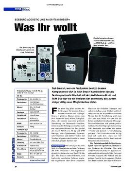 Test: Seeburg Acoustic Line A6 dp/TSM Sub dp+ - Was Ihr wollt