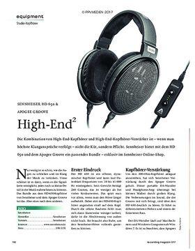 SENNHEISER HD 650 & APOGEE GROOVE