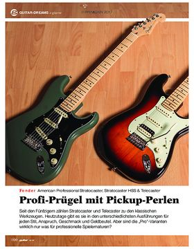 Fender American Professional Stratocaster, Stratocaster HSS & Telecaster