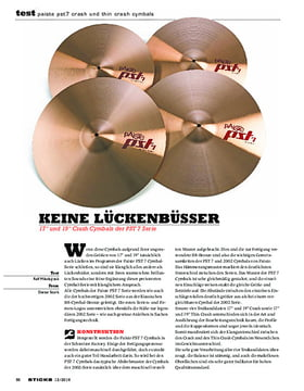 Paiste PST7 Crash Und Thin Crash Cymbals