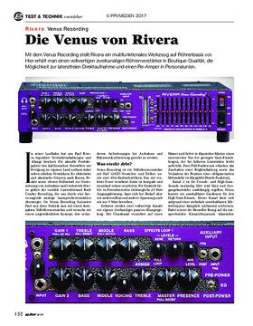 Rivera Venus Recording