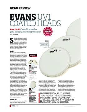 Evans UV1 Coated Heads